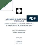 Estudio Work Bank Tarifas