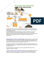 Homogeneización y Mezcla de La Materia Prima