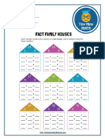 Math Grade 2 Worksheet #1 - Fact Family