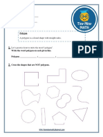 Math Grade 2 Worksheet #3 - Polygons