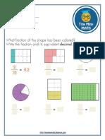 Math Grade 4 Worksheet #1 - Decimals