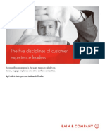 Five Disciplines of Customer Experience Leaders
