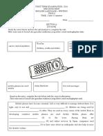 First Term Examination Writing