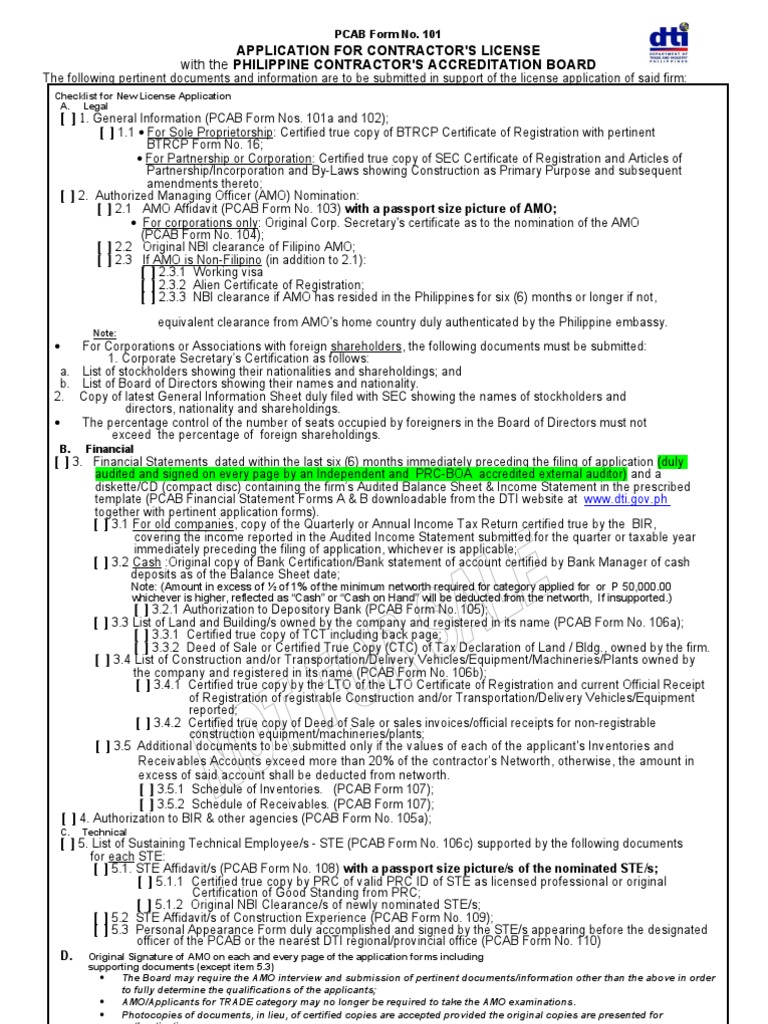 Dti application for contractors license identity document dti application for contractors license identity document notary public xflitez Image collections