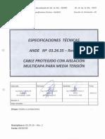 Especificacion Tec. Cable Protegido Para MT
