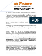 COMUNICADO A LA OPINIÓN PÚBLICA SOBRE NEGOCIACION CON SED.pdf