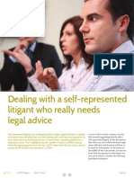 Dealing Self Represented Litigants Needs Advice