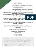 Seguro De Servicio De Salud De Puerto Rico v. McAuto Systems Group, Inc., (Two Cases). Appeal of Advanced System Applications, Inc., Third-Party Seguro De Servicio De Salud De Puerto Rico v. McAuto Systems Group, Inc., Appeal of Advanced System Applications, Inc., Seguro De Servicio De Salud De Puerto Rico v. McAuto Systems Group, Inc., 878 F.2d 5, 1st Cir. (1989)