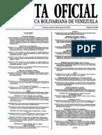 Sumario Gaceta Oficial 39.426
