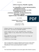 United States v. Parcels of Real Property With the Building, Appurtenances and Improvements Known as 1933 Commonwealth Avenue, Newton, Massachusetts, Appeal of John Chambers, 913 F.2d 1, 1st Cir. (1990)