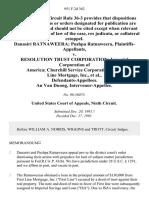 Danasiri Ratnaweera Pushpa Ratnaweera v. Resolution Trust Corporation Imperial Corporation of America Churchill Service Corporation First Line Mortgage, Inc., an Van Duong, Intervenor-Appellee, 951 F.2d 362, 1st Cir. (1991)