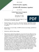 United States v. Miguel Gomez-Benabe, 985 F.2d 607, 1st Cir. (1993)