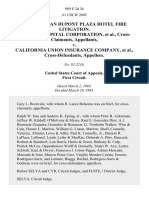In Re San Juan Dupont Plaza Hotel Fire Litigation. Holders Capital Corporation, Cross-Claimants v. California Union Insurance Company, Cross-Defendants, 989 F.2d 36, 1st Cir. (1993)