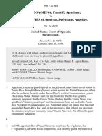 David Vega-Mena v. United States, 990 F.2d 684, 1st Cir. (1993)
