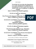 Albert Andrisani v. State of California, and First Western Development Corporation, Albert Andrisani v. State of California First Western Development Corporation, Albert Andrisani v. State of California, and First Western Development Corp., Albert Andrisani v. State of California First Western Development Corporation Daniel E. Lungren, 993 F.2d 881, 1st Cir. (1993)