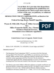 Resolution Trust Corporation, as Receiver for First Network Federal Savings Bank v. Wayne H. Miller Wayne H. Miller Investment Company, Inc. Miller Properties Realty, Inc. Thomas Stone Northern Financial Services, Defendants-Cross-Claimants-Appellants, 67 F.3d 308, 1st Cir. (1995)