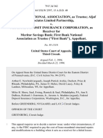 """First Bank National Association, as Trustee Aljaf Associates Limited Partnership v. Federal Deposit Insurance Corporation, as Receiver for Meritor Savings Bank First Bank National Association as Trustee (""""First Bank""""), 79 F.3d 362, 1st Cir. (1996)"""