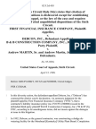 First Financial Insurance Company v. Debcon, Inc., B & B Construction Company, Inc., Defendant/third Party v. Andrew Martin, Sr. And Andrew Martin, Jr., Third Party, 82 F.3d 418, 1st Cir. (1996)