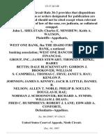 John L. Shelstad Charles E. Minshew Keith A. Watson v. West One Bank, Fka the Idaho First National Bank, a National Banking Association West One Bancorp, Fka Moore Financial Group, Inc. James Stewart Thomas F. Ripke Harry Bettis Dale Blickenstaff Gordon J. Brookover William S. Campbell Thomas C. Frye Janet S. Hay Kenlon P. Johnson James S. Kinney Jack B. Little Daniel R. Nelson Allen T. Noble Philip B. Soulen Douglas H. Rae Norman J. Schoonover Richard A. Symms William J. Deasy Fred C. Humphreys Robert J. Lane Edward A. Conforti, 131 F.3d 148, 1st Cir. (1997)