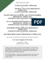 United States v. Ralph Rosario-Diaz, A/K/A Juni, United States v. Wilson Montalvo Ortiz, A/K/A Willie Barber, United States v. Juan Antonio Baez-Jurado, A/K/A Papo, United States v. Wilfredo Lopez-Morales, United States v. Ada Melendez-Garcia, 202 F.3d 54, 1st Cir. (2000)