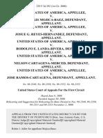 United States v. John Alexis Mojica-Baez, United States of America v. Josue G. Reyes-Hernandez, United States of America v. Rodolfo E. Landa-Rivera, United States of America v. Nelson Cartagena-Merced, United States of America v. Jose Ramos-Cartagena, 229 F.3d 292, 1st Cir. (2000)