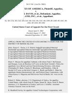 United States v. William M. Davis, Ashland, Inc., 261 F.3d 1, 1st Cir. (2001)