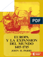 Europa y La Expansion Del Mundo - John H. Parry