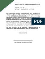Homologado TECNOLÓGICO DE LA PAZ