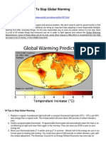 Top 50 Things to Do, To Stop Global Warming