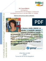 Palestra Doutora Laura Ribeiro