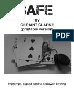 safe - geraint clarke
