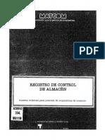 Registro de Control de Almacen