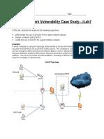 SEC450 W7 ILab SEC450 W7 Network Vulnerability Case Study Instructions