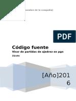 Código Fuente Para Visor de Ajedrez