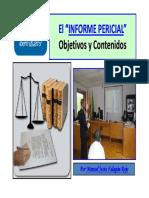 Ponencia. El Informe Pericial Contenido y Objetivos