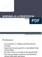 Nursing as a Profession