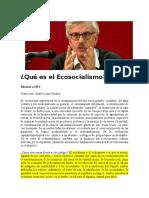 Qué Es El Ecosocialismo LOWY CAP 1