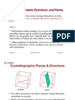 Crystal Directions and Planes