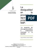 La desigualdad en la provisión de agua_ Picon y Tavano