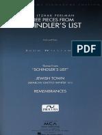 Three pieces from Schindler's List (violin y piano)