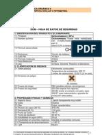 Hoja de Seguridad Diclorometano