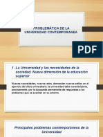 Problemática de La Universidad Contemporanea
