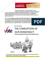 GA 2016--Flyer for CSAI -The Corruption of Our Democracy)