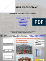 steel frame y wood frame