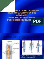 PLANOS Y Insiciones-quirurgias