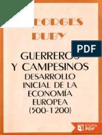 Guerreros y Campesinos - Georges Duby