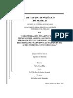 caracterizacion electroquimica de la zona afectada termicamente del acero inoxidable austenitico 316L