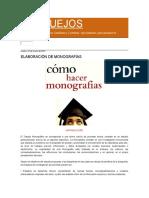 BOSQUEJOS de Hacer Una Monografia