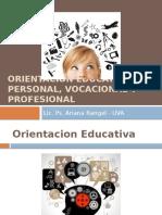 Orientacion Educativa, Personal, Vocacional y Profesional