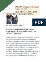 Clasificacion de Las Danzas Tradicionales de Venezuela